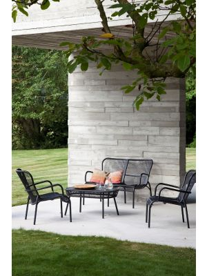 Vincent Sheppard Loop Lounge Chair - Set van 2 - Zwart