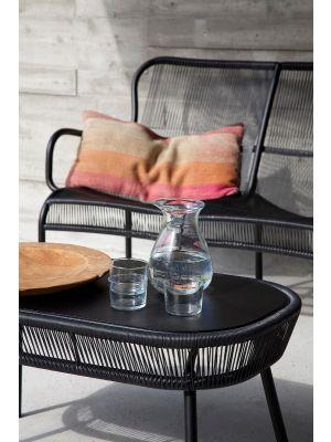 Vincent Sheppard Loop Outdoor Salontafel L90 x B51 x 43 cm - Zwart