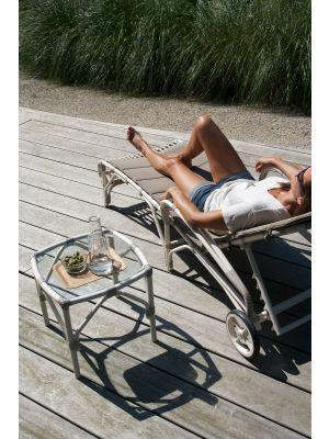 Vincent Sheppard Lucy Modular Wicker Outdoor Bijzettafel - Off White