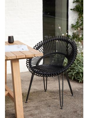 Vincent Sheppard Roxy outdoor rotan tuinstoel - zwart