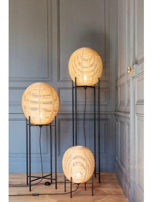 Vincent Sheppard Sari Vloerlamp Medium - B39 x H115 cm - Naturel Rotan