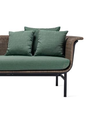 Vincent Sheppard Wicked 2 zits Outdoor Lounge Bank - Taupe - Forrest Green