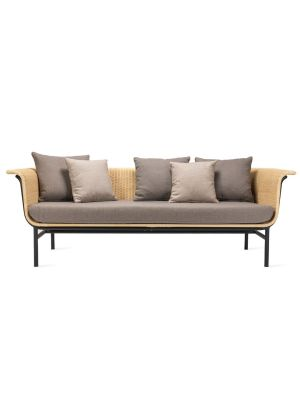 Vincent Sheppard Wicked 3 zits Outdoor Lounge Bank - Naturel Rotan - Lopi Cocunut