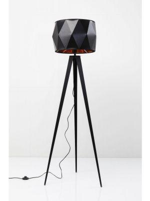 Kare Design Vloerlamp Stright Tripod - Mat Zwart