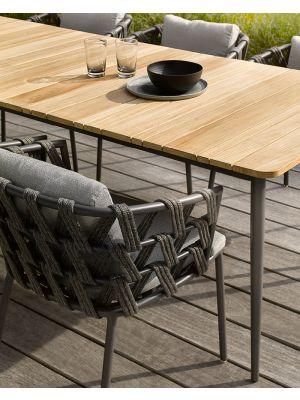 Vincent Sheppard Leo Dining Chair Rope Tuinstoel - Lava Grijs - Actieset inclusief kussens