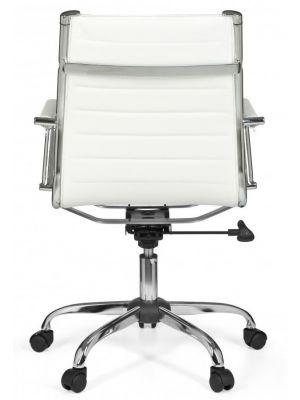 24Designs Modena Bureaustoel - Wit Kunstleer