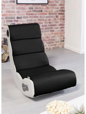 24Designs Soundz Pro - Racestoel Gamestoel - Bluetooth & Speakers - Zwart/Wit