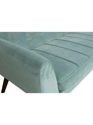 Woood Roxy Bank - Breedte 187 cm - Lichtblauw Velvet Fluweel - Houten Poten
