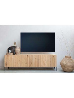 WOOOD Gravure Tv-Meubel - B180 x D46 x H56 cm -  Naturel Eiken