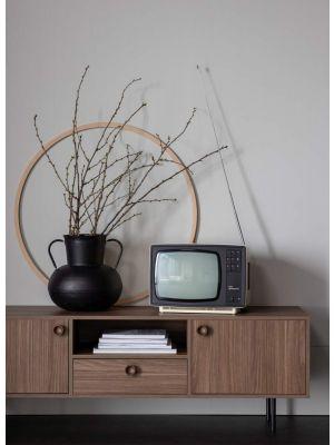 WOOOD Prato Tv-Meubel - B145 x D40 x H48 cm - Walnoot