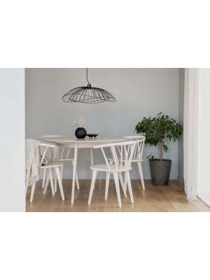 Rowico Yumi Ronde Eettafel 115 cm - Whitewash Tafelblad