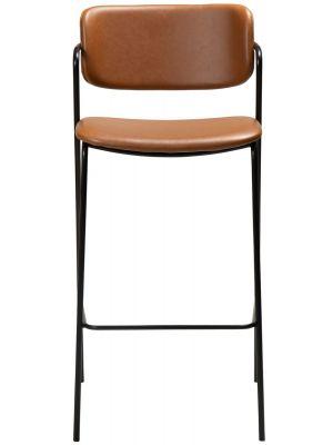 Dan-Form Zed Barkruk – Zithoogte 75 cm - Set van 2 - Cognac Kunstleer