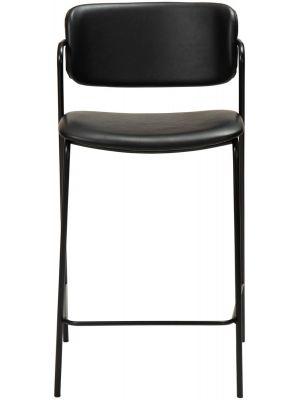 Dan-Form Zed Counter Barkruk – Zithoogte 65 cm - Set van 2 - Zwart Kunstleer