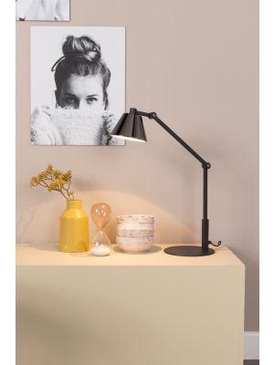 Zuiver Lub Bureaulamp 1-Lichts - LED - 20x47x45 - Zwart Metaal