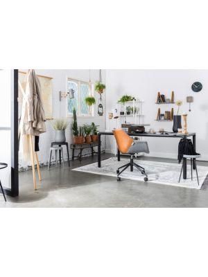 Zuiver Bureaustoel Doulton - Zithoogte 45 - 57 cm - Vintage Bruin