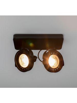 Zuiver Dice-2 Plafondspot - DTW Dim to Warm Dimbare LED - Zwart