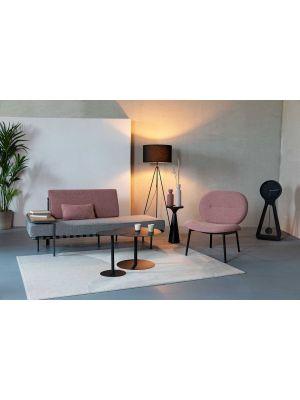 Zuiver Spike Lounge Fauteuil - Stof Roze - Zwarte Metalen Poten