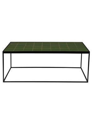 Zuiver Glazed Salontafel - Groen Keramiek Tafelblad - Zwart Metalen Frame