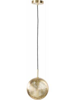 Zuiver Verstelbare Hanglamp Gringo Flat 1-Lichts Ø22.5 x H12 cm - Messing