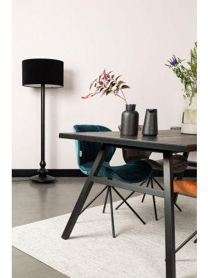 Zuiver OMG Velvet Stoel - Fluweel Petrol Blauw - Set van 2 stoelen