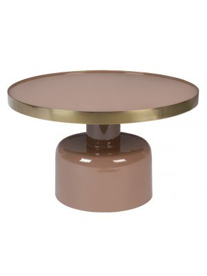 Zuiver Glam Salontafel - B60 x H35 cm - Roze