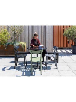 Zuiver Friday Stapelbare Tuinstoel - Set van 2 - Mat Zwart Aluminium