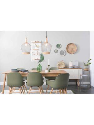 Zuiver Glimps Uitschuifbare Eettafel - 180/240x90x76 - Naturel Essenhout