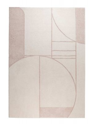 Zuiver Bliss Vloerkleed Rechthoek - L230 x B160 cm - Stof Naturel/Roze