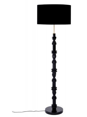 Zuiver Totem Vloerlamp 1-Lichts - Ø46 x H148 cm - Zwart