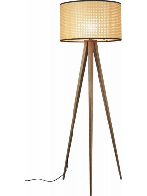 Zuiver Vloerlamp Tripod Webbing 1-Lichts Ø50 x H153 cm - Bruin