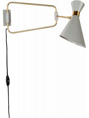 Zuiver Wandlamp Shady 1-Lichts B14.5 x H16.5 cm - Grijs