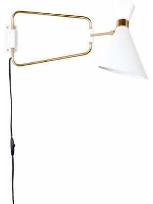 Zuiver Wandlamp Shady 1-Lichts B14.5 x H16.5 cm - Wit