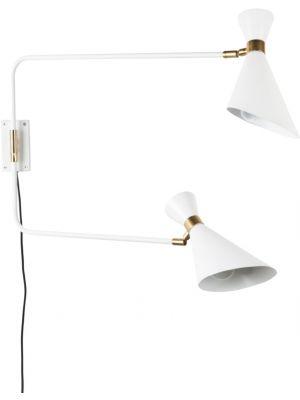 Zuiver Wandlamp Shady Double 2-Lichts B14.5 x H16.5 cm - Wit