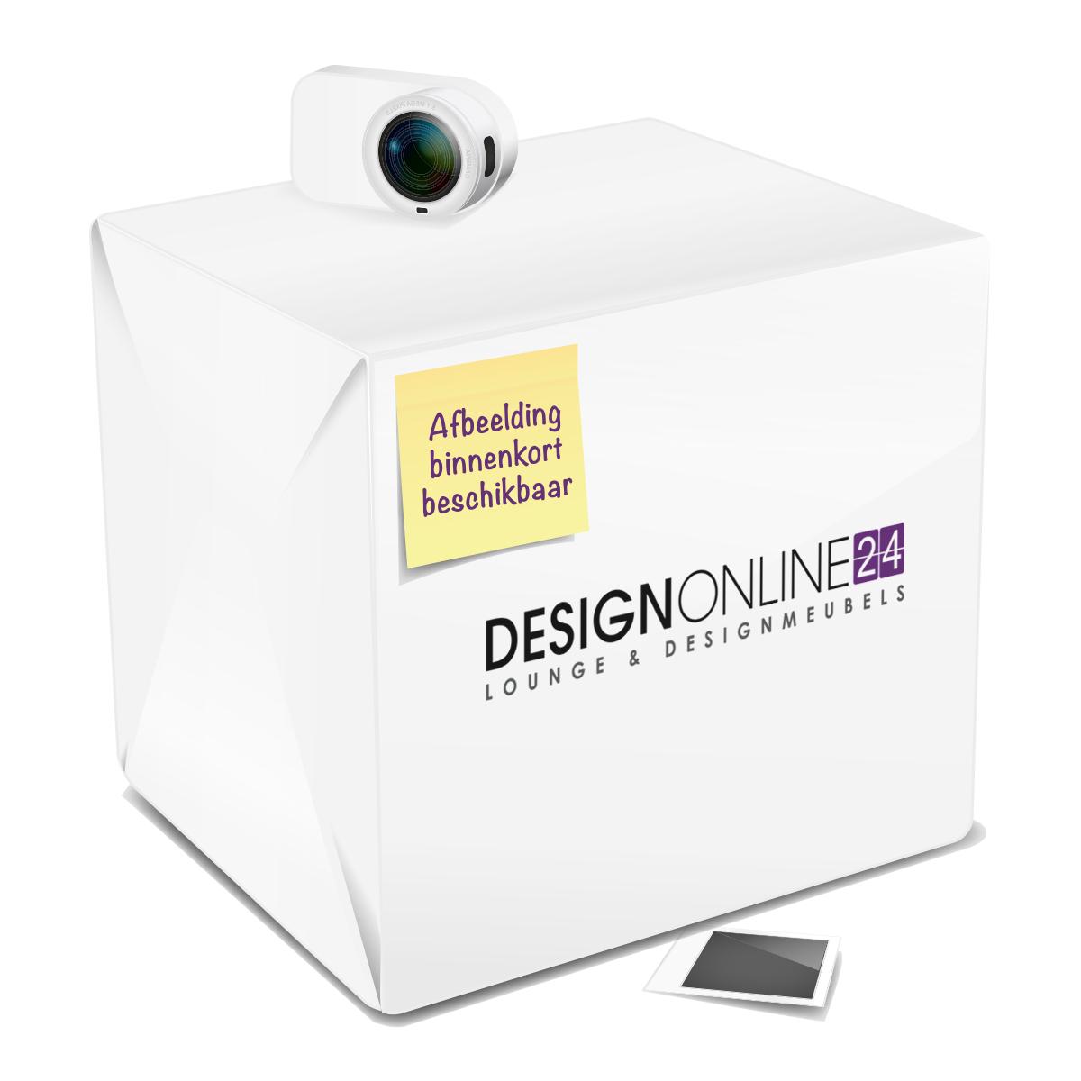 24Designs 24Designs Loungeset Portofino Zwart - Grijze kussens