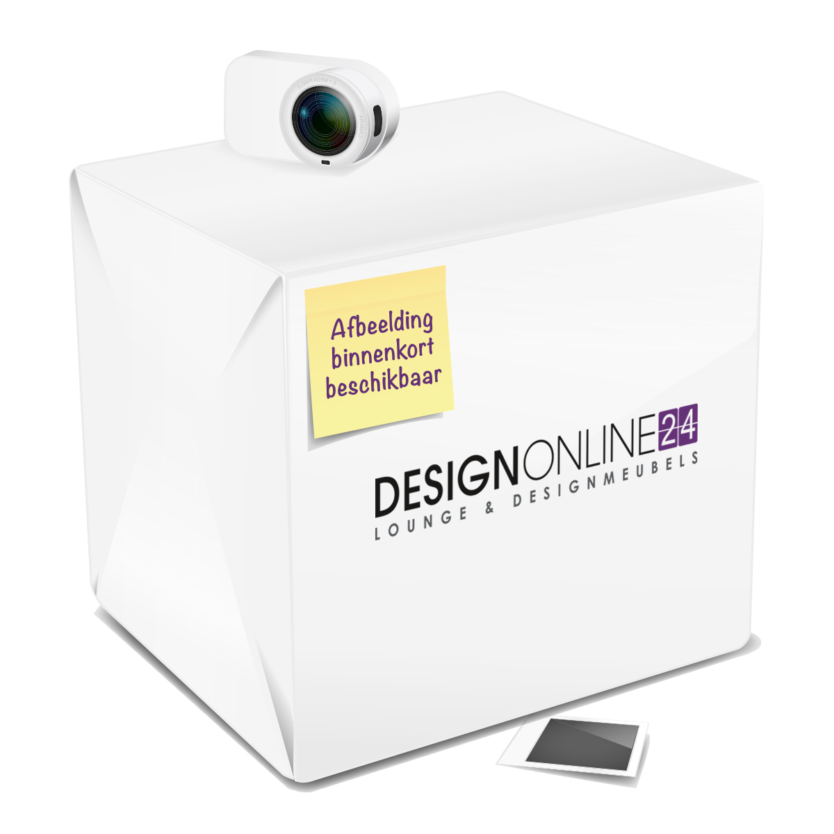 24Designs 24Designs Barkruk Maxime - Zithoogte 77 cm - Chromen onderstel - Kunstleren zitting - Wit