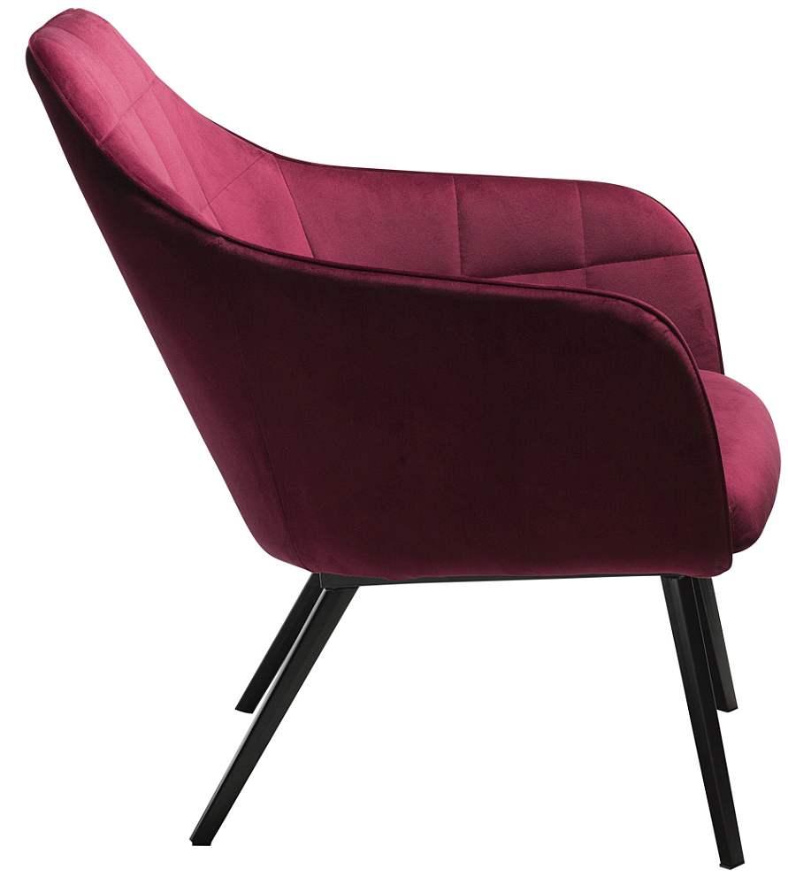 Dan-Form Embrace Loungefauteuil - Robijnrood Fluweel