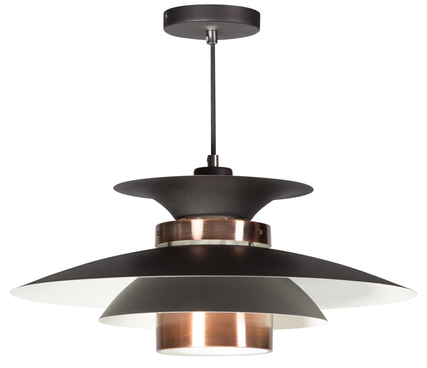 ETH Hanglamp Potenza -Ø50 Cm - Zwart - Koper