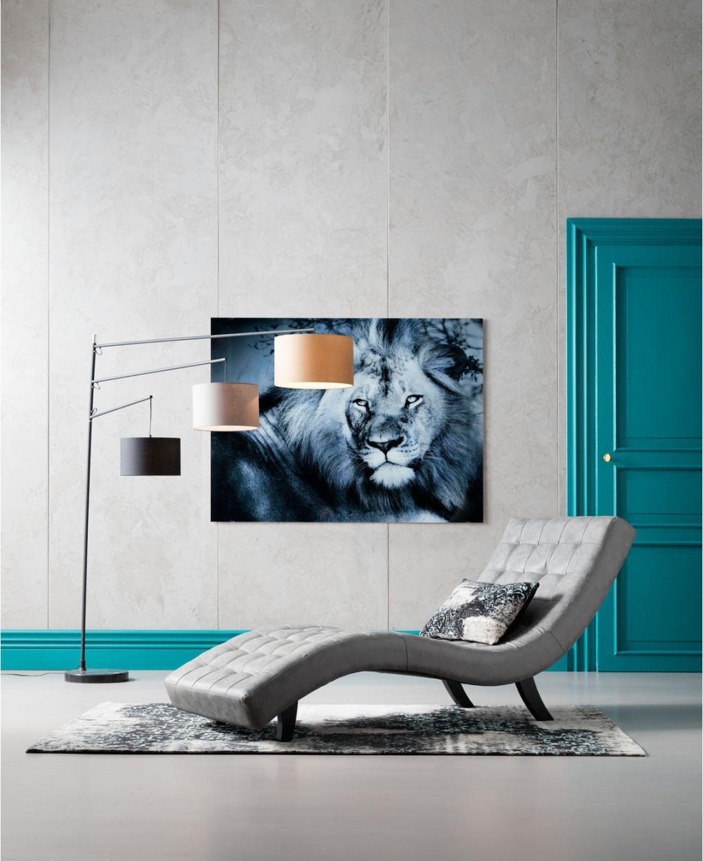 Kare Design - Fauteuil Snake Slumber - 197x82x78 - Kunstleer Grijs - 82x197x78