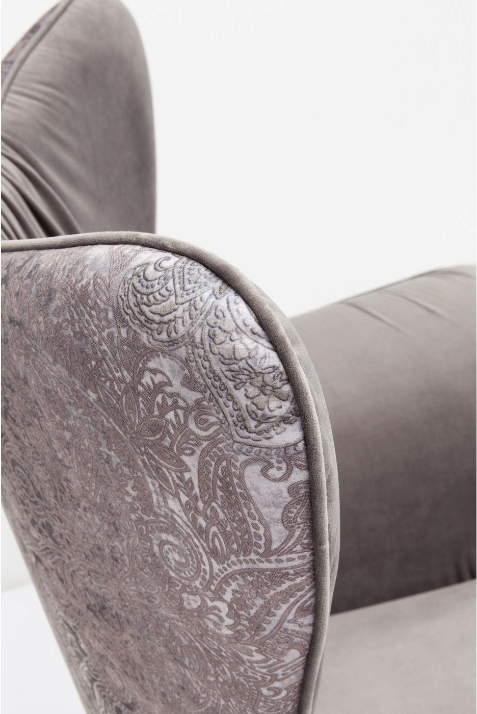 Kare Design - Fauteuil Wall Street - Grijs Fluweel