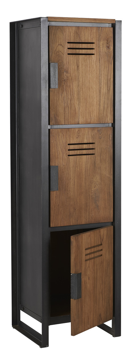 D-Bodhi Fendy Locker Kast - 3 Deurs - L45 X B40 X H160 Cm - Teakhout