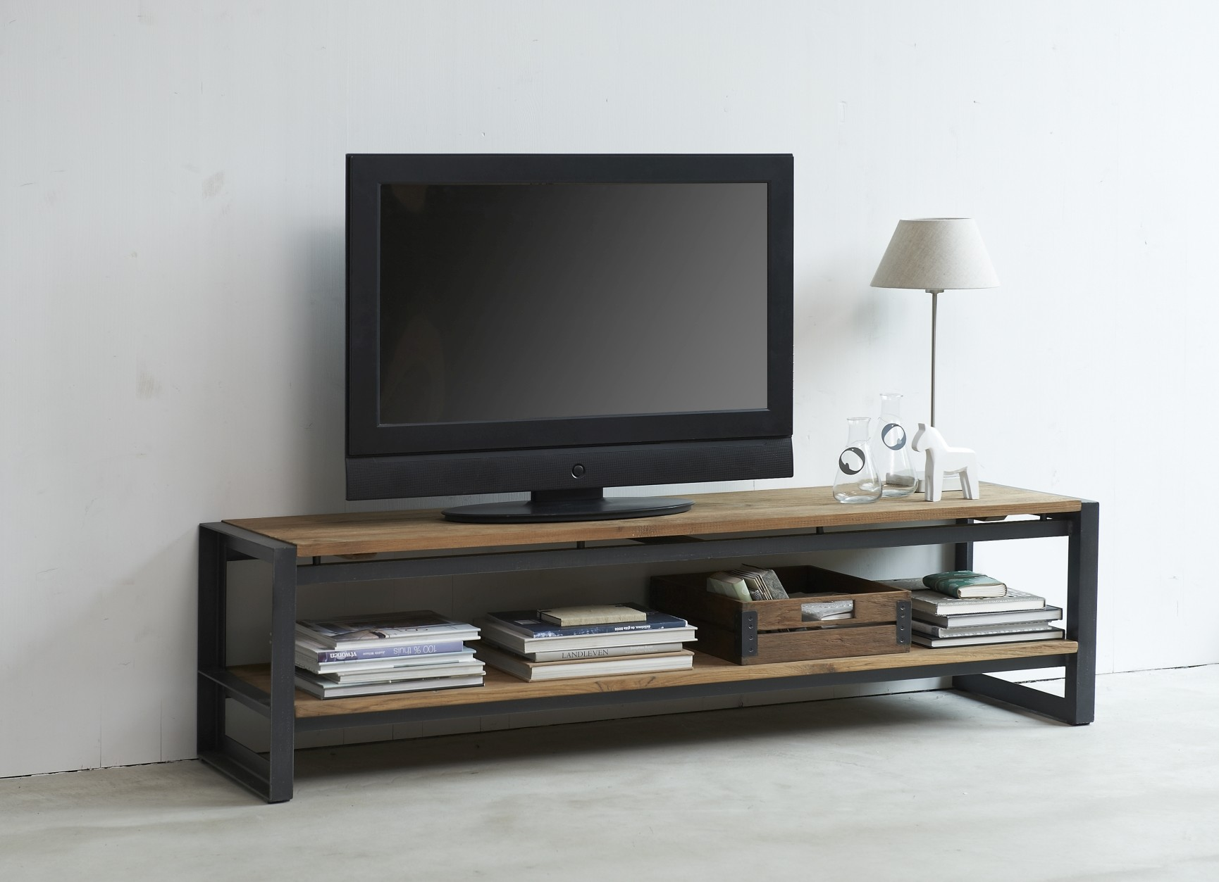 D-Bodhi Fendy TV Meubel - L120 X B40 X H40 Cm - Laag - Teakhout