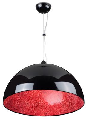 Linea Verdace Hanglamp Cupula MirrorØ50 Cm Rood - Zwart