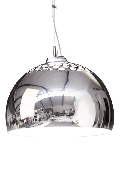 24Designs Hanglamp Hole In The Head - Chroom