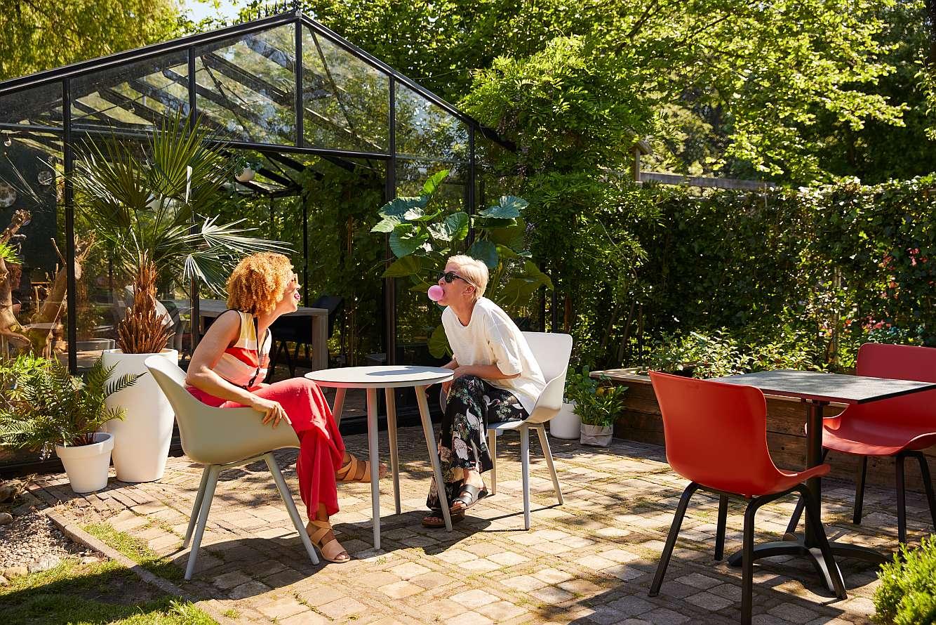 2 Hartman Tuinstoelen.Hartman Sophie Organic Studio Tuinstoel Set Van 2 Rood Nu Met
