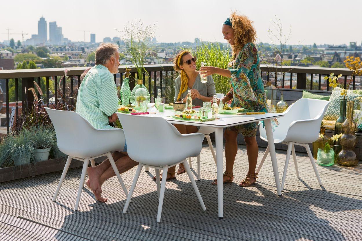 Hartman Sophie Studio Dining Tuinstoel Armleuning - Set Van 2 - Wit NU Met Gratis Zitkussens Twv.? 44,00