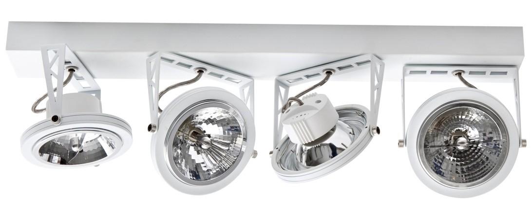 ETH Plafondspot Lofar 4-Lichts - Balk - Mat Wit