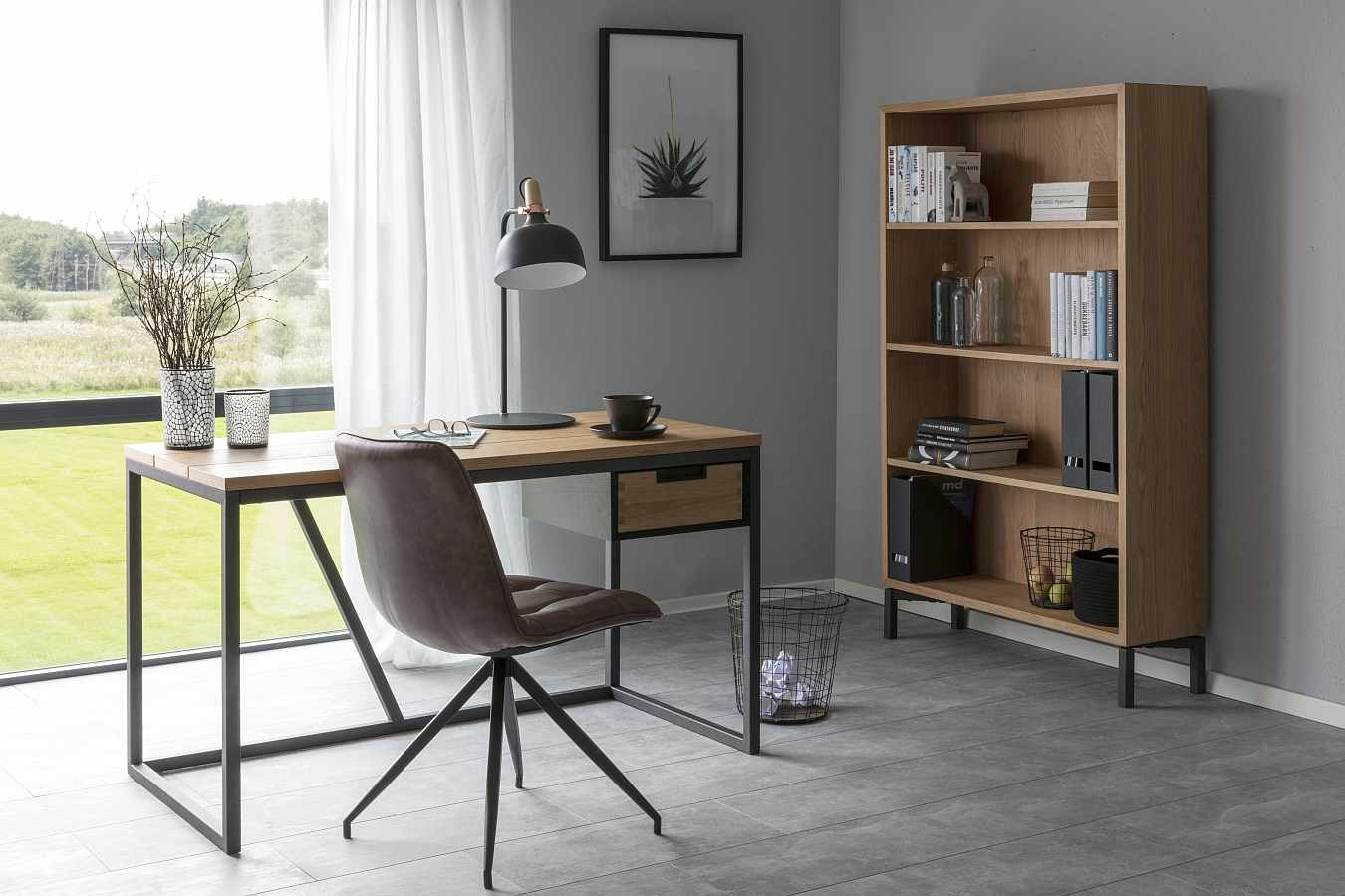 Interstil Apartment Open Boekenkast - 100x30x160 - Eiken