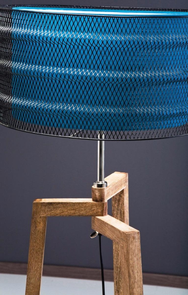 Kare Design Vloerlamp Wire Tripod 1-LichtsØ48 X H146 Cm - Blauw