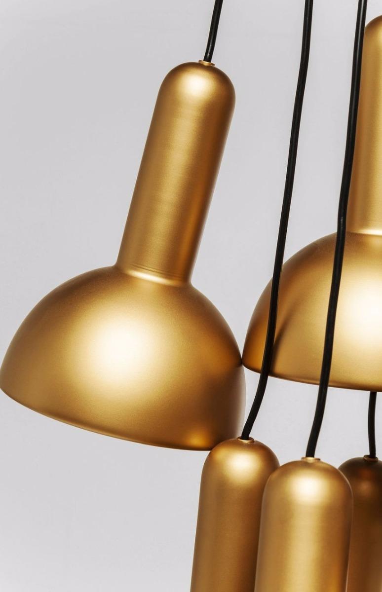 Kare Design Verstelbare Hanglamp Cappello 10-LichtsØ18 X H24 Cm - Goud