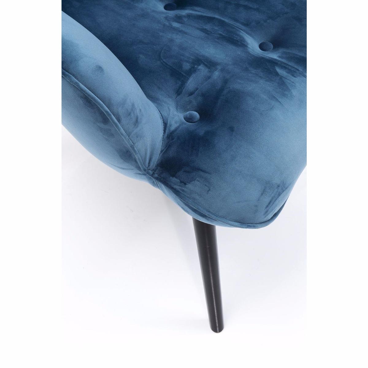 Kare Design Fauteuil Vicky Zithoogte 43 Cm - Velvet Stof Petrol